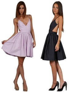 ONE by Contrarian Barbaba Bibb Cut-out Lavender Dress
