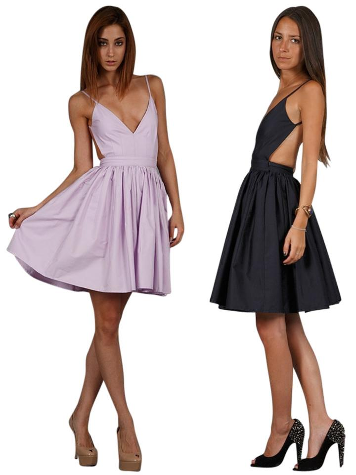 One By Contrarian Lilac Barbara Bibb Backless Tail Dress