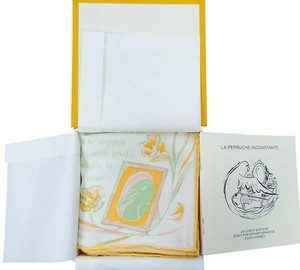 Hermès NWOT HERMES Silk The Fickle Budgerar Gavroche Pochette Pocket Scarf