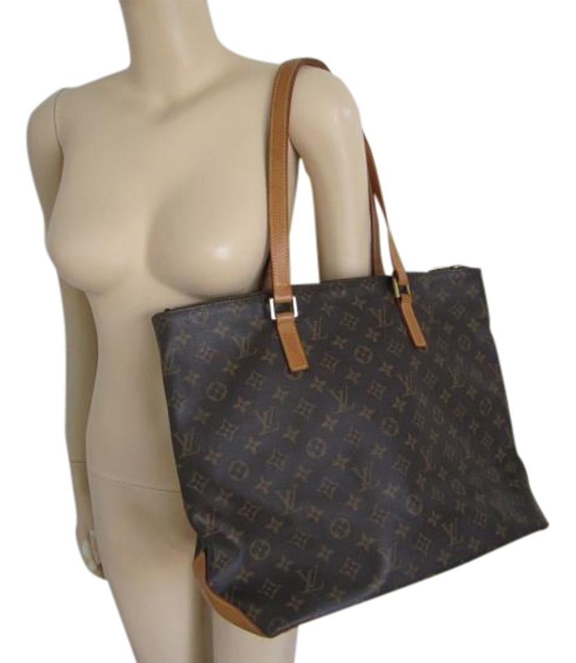 b13cea75250 Louis Vuitton Cabas Mezzo Neverfull Used Monogram M2169 No Damage with  Dustbag Date Code Ar1010 Mm Brown Canvas Leather Shoulder Bag