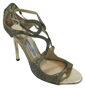 Jimmy Choo Lang Wedding Louboutin Gold Formal