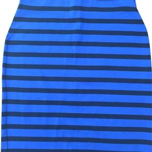 Ann Taylor LOFT Skirt Blue/black strips