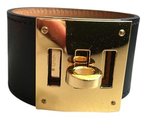 Hermès Hermes Black with Gold Hardware Dog Kelly Bracelet