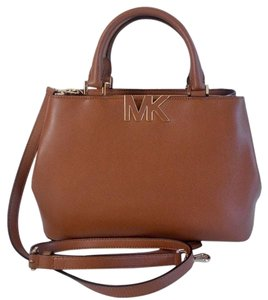 Michael Kors Florence Shoulder Satchel in Luggage