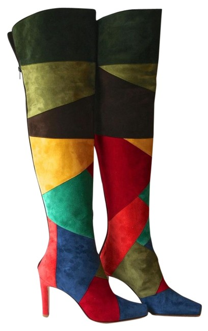 Item - Multi Color Kenitra Boots/Booties Size US 7 Narrow (Aa, N)