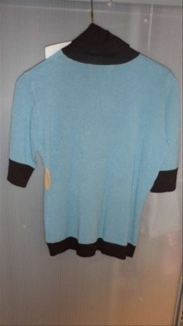 Casual Corner Super Soft 3/4 Length Sleeve Turtleneck Colorful Sweater