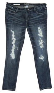 Decree Distressed Stretchy Denim Skinny Jeans-Distressed