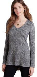 Anthropologie Tunic Knit Gray Deletta Hi Lo Sweater
