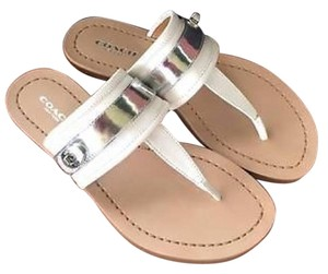 Coach White and silver Sandals