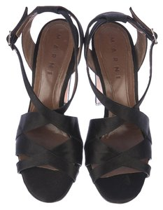 Marni black satin Sandals