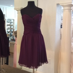 Angelina Faccenda Eggplant Dress