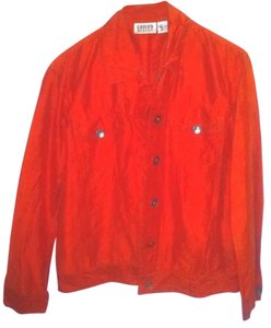 Chico's Free Shipping Button Down Casual Jacket Red Blazer