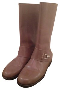 See by Chloe Leather Buckle Grey Boots