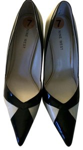 Nine West Black and Cream Pumps