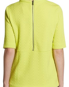 Tibi Italian Jersey Top NWT LEMON YELLOW