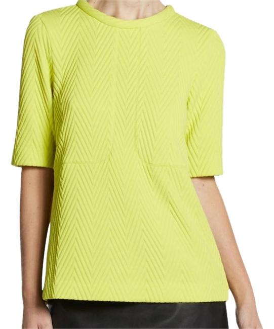 Tibi Italian Top NWT LEMON YELLOW