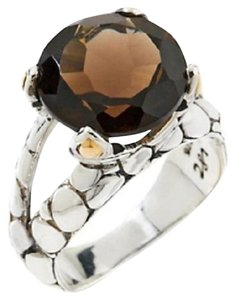 Other 5.5ct Smoky Quartz Sterling Silver Ring - Size 10