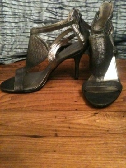 Nine West Silver Pewter Sandals