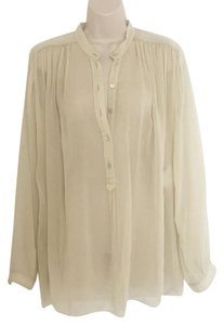 Gucci Silk Top Cream