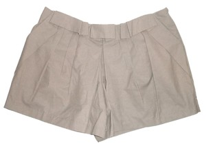 Vera Wang Khaki Cotton Ruffle Pockets Shorts