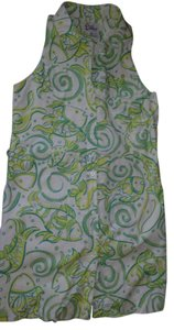 Lilly Pulitzer short dress Girls/ White / green multi Girls on Tradesy