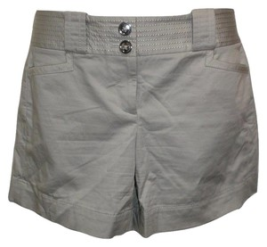 White House | Black Market Silver Boyfriend Stretchy Shorts