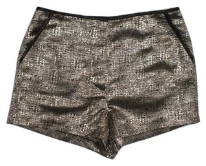 Forever 21 Hotpant Short Metallic Silver Mini/Short Shorts