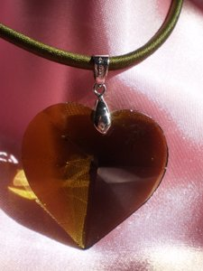Smoky quartz heart necklace