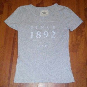 Abercrombie & Fitch Womens Signature T Shirt Gray