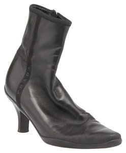 Prada Ankle Leather Size 36 Black Boots
