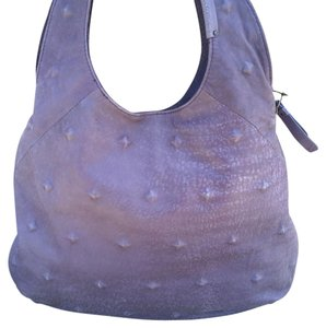 BCBGMAXAZRIA Leather Textured Zippered Hobo Bag