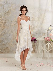 Alfred Angelo Ivory Lace 8535nt Traditional Wedding Dress Size 10 (M)