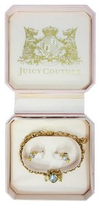 Juicy Couture Birthstone Candy Bow Crystal Bracelet & Earrings set