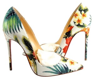 Christian Louboutin So Kate Hawaii Tropical So Kate White multi Pumps