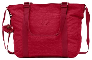 Kipling Week-end Cross Body Tote in Claret red