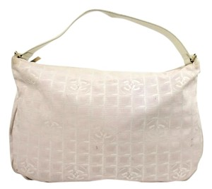 Chanel Canvas White Leather Hobo Bag