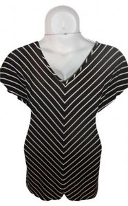 L8ter short dress Black/White Stripe Lightweight on Tradesy