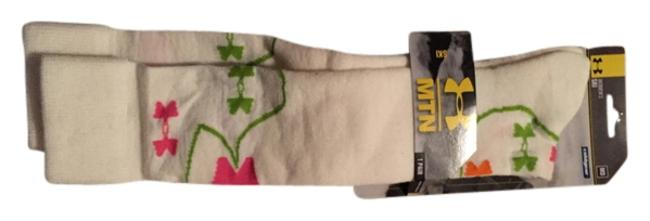 Item - White Green and Pink Ski Socks