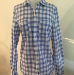 Old Navy Button Down Shirt White, blue