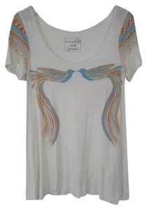 Free People Knit Draped We The Graphic T Shirt White