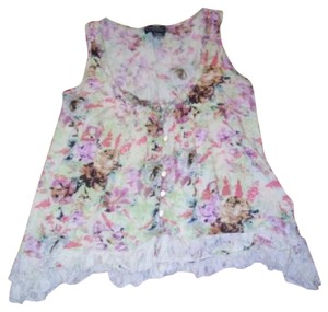 Angie Floral Lace Top Multicolored