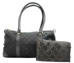 Gucci Monogram Speedy Satchel in Black