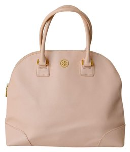 Tory Burch Robinson Saffiano Leather Satchel in Pink