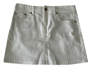 J.Crew Denim Mini Mini Skirt White