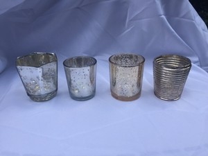 47 Assorted Silver And Gold Mercury Votives