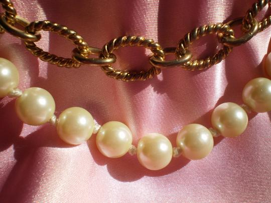 Other Pearls & Antique goldtone Chain Necklace