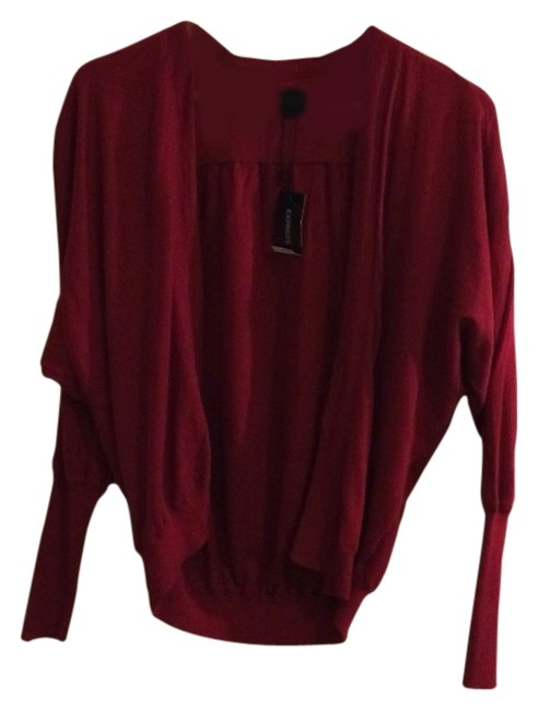 Preload https://item1.tradesy.com/images/express-scarlet-red-wrapcocoon-sweater-cardigan-size-2-xs-1672775-0-0.jpg?width=400&height=650