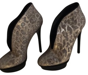 Brian Atwood Silver gold black Boots