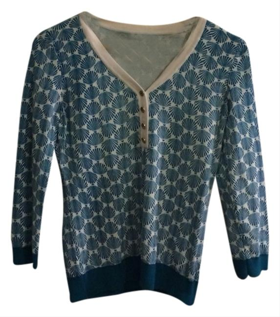 Preload https://item2.tradesy.com/images/c-wonder-blue-and-white-shells-sweater-cardigan-size-2-xs-1672786-0-0.jpg?width=400&height=650