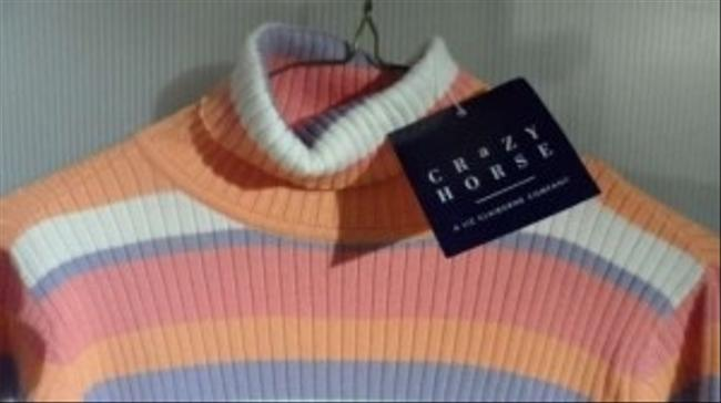 Crazy Horse Super Soft Turtleneck Very Colorful New With Tags Sweater